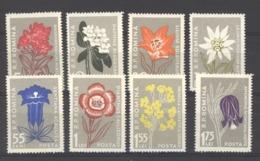 Roumanie  :  Yv  1517-24  *      Fleur - Flower - 1948-.... Républiques