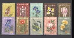 Roumanie  :  Yv  1652-61  **      Fleur - Flower - 1948-.... Républiques