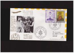 VATICANO -16 9  1972 1972 SS PAOLO VI  - VOLO PAPALE VATICANO - UDINE  (VIA AQUILEIA  / VENEZIA) - Papes