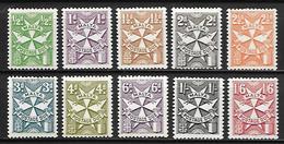 MALTE    -   Timbres-Taxe.   1968.   Y&T N° 31 à 40 **.   Série Complète. - Malte
