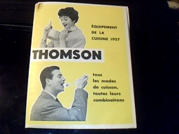 Publicité Depliant Catalogue  Equipement De La Cuisine 1957 Thomson - Publicidad