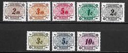 MALTE    -   Timbres-Taxe.   1973.   Y&T N° 41 à 48 **.   Série Complète. - Malte