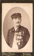Photographie Du Sauveteur Hospitalier De La Gironde A. Plane, Cdv De 1893, Nombreuses Médailles De Sauvetage - Métiers