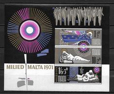 MALTE    -   Bloc-Feuillet.   1971.   Y&T N° 1 **. - Malta