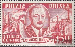 Polen 702 MNH 1951 Volkspolen - 1944-.... Republik