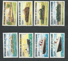 COTE IVOIRE Scott 722-729 Yvert 691-694 695-698 (8) ** Cote 27,50 $ 1984 - Côte D'Ivoire (1960-...)