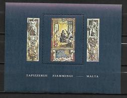 MALTE    -   Bloc-Feuillet.   1980.   Y&T N° 6 **.   Tapisserie Flamande - Malta