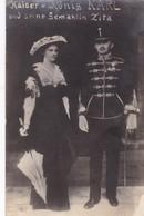 KAISER U KONIG KARL UND SEINE GEMAHLIN ZITA. ROYAL CIRCA 1900s COMISION DAMAS CRUZ ROJA AUSTRO HUNGARA- BLEUP - Koninklijke Families