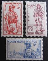 R1606/111 - 1941 - DEFENSE DE L'EMPIRE - COLONIES FR. - GUYANE - SERIE COMPLETE - N°169 à 171 NEUFS* - Guyane Française (1886-1949)