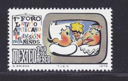 MEXIQUE AERIENS N°  412 ** MNH Neuf Sans Charnière, TB (D7869) Forum De Télévision Pour La Jeunesse - 1976 - Mexique