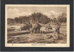 CPA SIAM Thaïlande Non Circulé éléphant - Thailand