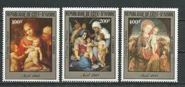 COTE IVOIRE Scott C90-C92 Yvert PA94-PA96 (3) ** Cote 7,50 $ 1985 - Côte D'Ivoire (1960-...)