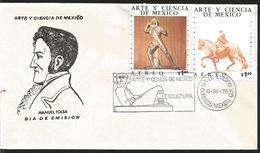 J) 1976 MEXICO, ART AND SCIENCE OF MEXICO, MANUEL TOLSA, EL CABALLITO, MANUEL VILAR, TLAHUICOLE, SCULPTURE, MULTIPLE STA - Mexique
