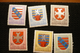 Luxembourg Caritas 1958 Blason N°553/558 Neufs ** - Luxembourg