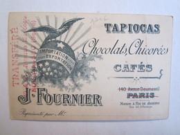 Chromo Chromos Tapiocas  Chicorées Cafés J Fournier Paris Rio De Janeiro Illustarteur Couple Ange Arc Noisy Le Sec - Chromos