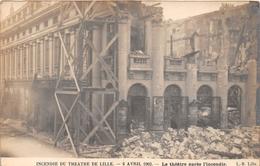 ¤¤   -    LILLE  -   Carte-Photo De L'Incendie Du Théatre En 1903  -  Après L'Incendie   -   ¤¤ - Lille