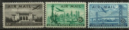 San Francisco,New-York,Washington. Air Mail Stamps, Année 1947.  3 Timbres Neufs ** - Poste Aérienne