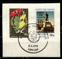 CY TR+ Türkisch Zypern 1975 Mi 8-9 Autonomie - Oblitérés