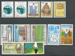 COTE IVOIRE Voir Détail (12) ** Cote 17,50 $ 1985 - Côte D'Ivoire (1960-...)
