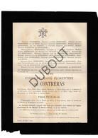 Doodsbrief Clotilde-Marie-Florentine De Contreras °1812 Oudenaarde †1892 Begraven Wondelgem Echtg. Mons. Serdobbel (H18) - Décès