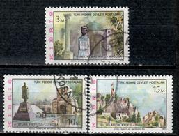 CY TR+ Türkisch Zypern 1975 Mi 10-12 Ansichten - Oblitérés