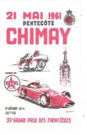 Circuit Chimay 21 Mai 1961 - Publicité