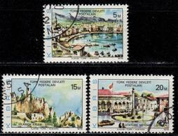 CY TR+ Türkisch Zypern 1975 Mi 12-13 15 Ansichten - Oblitérés