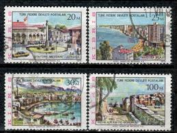CY TR+ Türkisch Zypern 1975 Mi 13-15 17 Ansichten - Oblitérés