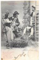 CPA. FEMMES.... ARTISTIQUE.....BERGERET....IL PLEUT  BERGERE....1904...TBE....SCAN - Femmes