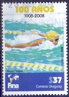 Used Uruguay 2008,100 Years Swimming Federation 1V - Uruguay