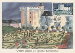 CARTE MAXIMUM - Château De Villandry - 1954 - Maximumkarten