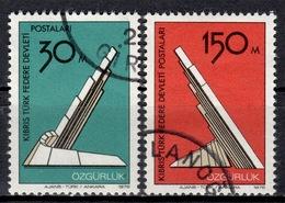 CY TR+ Türkisch Zypern 1976 Mi 39-40 Freiheit - Oblitérés