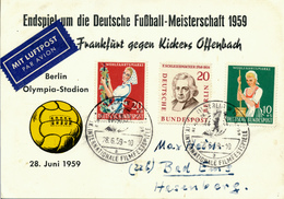 BERLIN - 28.6.1959 , Endspiel Um Die Deutsche Fussball-Meisterschaft Frankfurt-Kickers Offenbach (5:3) - Fussball