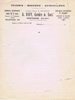 CHARENTE- MARITIME - MONTENDRE - A. ROY - Epicerie, Mercerie, Engrais, Sulfate, Chaux, Ciments - Manoscritti