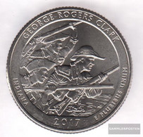 U.S. Km-number. : 2017 Stgl./unzirkuliert George Rogers Clark National Historical Park Stgl./unzirkuliert 2017 25 Cent G - Federal Issues