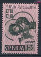 Serbien (Dt.Bes.2.WK.) 55A I Überdruckspitzen Nach Unten Mit Falz 1941 Kriegsgefangene (9260620 - Besetzungen 1938-45
