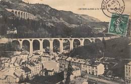 Morez Construction Viaduc Thème Train Gare - Morez