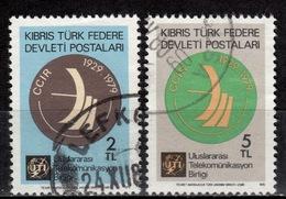 CY TR+ Türkisch Zypern 1979 Mi 74-75 Funkdienst - Oblitérés