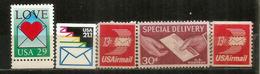 Courrier Par Avion. 5 Timbres Neufs **, Inclus Roulettes - Poste Aérienne