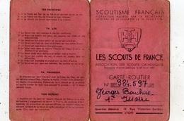 LES SCOUTS DE FRANCE CARTE ROUTIER - Scouting