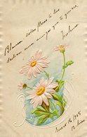 CUATRO FLORES DE MARGARITA /  FOUR FLOWERS OF DAISY - POSTAL POSTCARD WRITTEN 1905 -LILHU - Bloemen