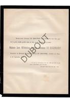 Doodsbrief Sara Wilhelmina Johanna Comtesse De Hogendorp °1809 †1888 's Gravenhage / Echtg. Florentin De Brouwer (H19) - Décès