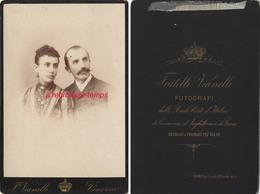 Grand CDV-(CAB) Italie-Vénezia- Par Fratelli Vianelli- Portrait D'un Couple - Anciennes (Av. 1900)