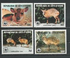 COTE IVOIRE Scott 764-767 Yvert 733-736 (4) ** Cote 27,50 $ 1985 - Côte D'Ivoire (1960-...)