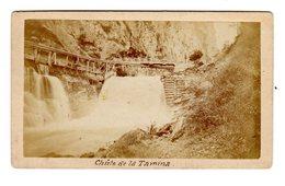 Photo Originale Waterfall Chute De La Tamina Suisse Sant Gallen Saint Gall Bad Ragaz Photographe J.U. Locher - Photos