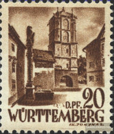 Franz. Zone-Württemberg 21 Unmounted Mint / Never Hinged 1948 Postage Stamp - Zone Française