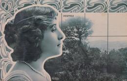 DESPREZ. YOUNG WOMAN ARTISTE A IDENTIFIER. BACKGROUND WITH NATURE LANDSCAPE. CIRCULEE 1906 LOUSTALAN FAMILY - BLEUP - Beroemde Vrouwen