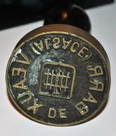 Très Rare Pas Cpa Mais Gros Tampon En Bronze Tannerie Pour Cuir Veaux De Barr Alsace 8cm Sur 15 De Haut - Barr