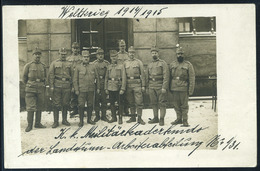 WW1 1915. Militarkaderkomando , Vintage Photo Postcard To Budapest Hungary - Austria