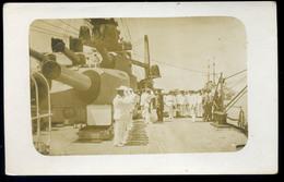K.u.K. HADITENGERÉSZET I. VH .SMS Admiral Spaun , Fotós Képeslap A Fedélzetről  /  KuK NAVY WW I. SMS Admiral Spaun Phot - Autriche